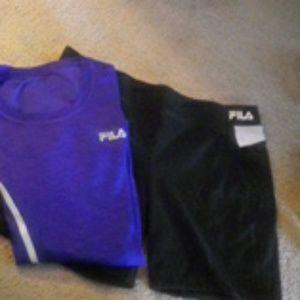 Fila shorts and top